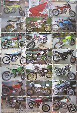 """HONDA MOTORCYCLES POSTER """"20 MODELS"""" - JAPANESE MOTORBIKES & CYCLES"""