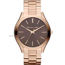 NEW Authentic Michael Kors Slim Runway Bracelet Ladies Rose Gold Watch MK 3181