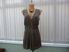 Next occasion top pure silk,lined, sz 18