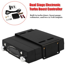 Electronic 2 Stage Boost Controller Kit Turbo Timer Voltmeter Solenoid Valve Set