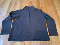 Gap Classic Fit Mens Brown 100% Cotton Pullover 1/4 Zip Knit Sweater Size Large