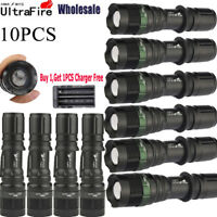Ultrafire 20000Lumens XM-L T6 Tactical Zoomable 18650 LED Flashlight Torch Lamp
