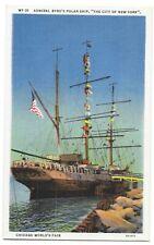 US 1933 ADMIRAL BYRDs POLAR SHIP THE CITY OF NEW YORK AT THE CHICAGO INTL FAIR E