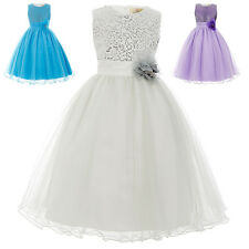 Age 2 -12 Flower Girl Dress Formal Banquet Wedding Party Bridesmaid Prom Dresses