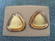 Pirámide triangular de color oro amor corazón en forma de Moda Pendientes con Pasador