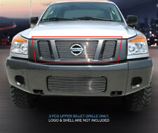Fedar Main Upper Billet Grille For 2008-2015 Nissan Titan - Polished