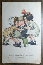 """Charles Twelvetrees Postcard """"It's A Great Life if you don't Weaken"""". Gross Co"""