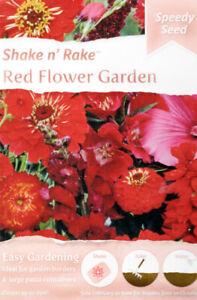 Red Garden 10,000 Flower Seeds/Shake n' Rake/20 Varieties/Covers 25 sq m/2022 UK