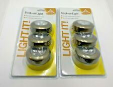 Lot of 2 - Fulcrum 30010-307 Stick-on Light - Light It! Pack of 3 NEW