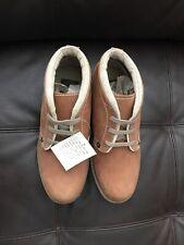 New Buffalino Men Leather Boots Size 8 Tan