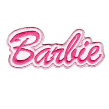 Pink Barbie Logo Iron On patch Sew On transfer logo Badge - Brand New