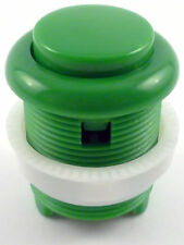28mm Round Convex Curved Arcade Push Button & Microswitch (Green) - MAME, JAMMA