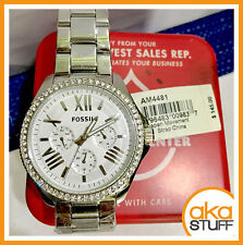 Fossil AM4481 Cecile Silver Stainless Steel Ladies