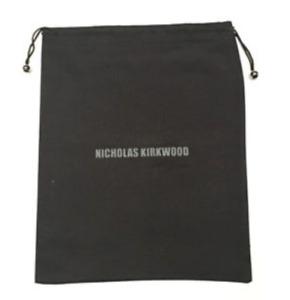 "Nicholas Kirkwood Black Storage Dust Cover Travel Bag 13"" x 11.5"""