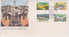 (ICF108) 1981 AU FDC 4set Australian aircraft (A)
