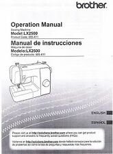 Brother LX2500 Sewing Machine Users Guide Owners Instruction Manual Book