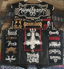 Studded Punk Black Metal Vest KutteSABBATH DISSECTION BATHORY DEICIDE MAYHEM