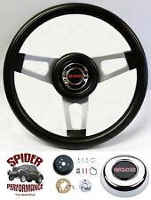 """1980-1987 Jimmy Suburban GMC pickup steering wheel 13 3/4"""" SILVER SPOKE"""