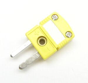 Premium Miniature Mini K-Type Connector Plug Male Thermocouple Wire Sensor Probe