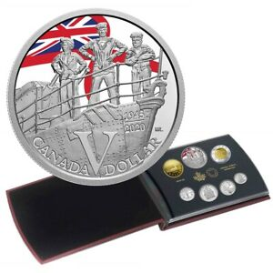 75th Anniversary of VE-Day - 2020 Canada Silver Dollar Proof Set Special Edition