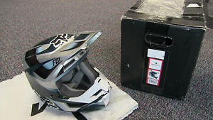 Fox Racing V1 Motif Youth Motocross Helmets - Blue/Gray - Youth Small