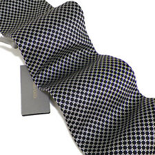 TOM FORD Black Silver Gray Geometric Self-Tipped Woven Silk Tie NWT