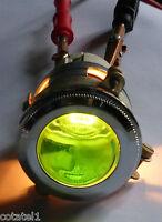 Gros voyant ARNOULD à cabochon vert en verre neuf diamétre 4 cm
