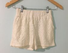 Miss Behave Girls Shorts Size Large Ivory Lace Dressy Pants