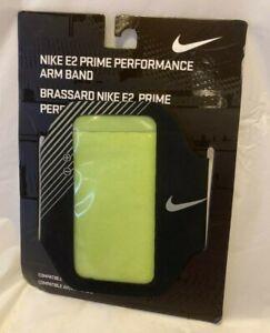 Nike E2 Prime Performance Arm Band Neon Green Black 129862 Unisex Iphone New