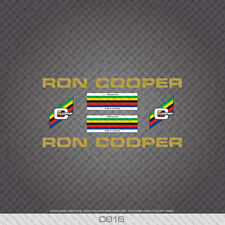 0816 Ron Cooper Bicycle Stickers - Decals - Transfers - Gold