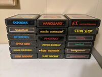 Atari 2600 Game Lot Human Cannonball, Space wars, Et, Missile Command