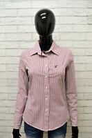 Camicia GUESS Donna Taglia Size S Maglia Blusa Shirt Woman Cotone Righe Regular
