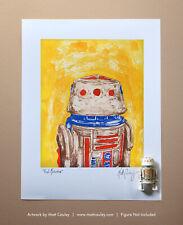 Star Wars R5-D4 Vintage Kenner Action Figure ORIGINAL ART PRINT 3.75 Astromech