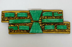 Art Deco Neiger Brothers Peking Glass Buckle
