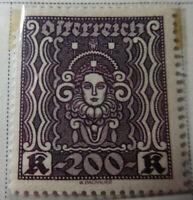 Austria 1922-24 Stamp 200 Kronen MNH Stamp StampBook1-14