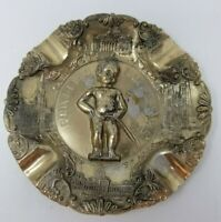 Vintage 1950s Manneken-Pis Bruxelles Brass Table Ashtray