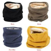 Women Winter Knitted Neck Warmer Circle Wrap Cowl Loop Snood Scarf Shawl