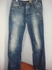 Jack & Jones Destroyed Button Fly Rick Vintage Jeans Tag 34-34 Measures 34-32