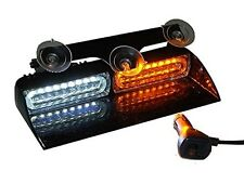 1 W LED Visor Strobe Dash Deck Emergnecy Warning Hazard Towing Amber and White
