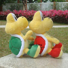 "2Pcs Red Green Koopa Troopa 6"" Super Mario Bros Plush Toy Stuffed Animal Turtle"