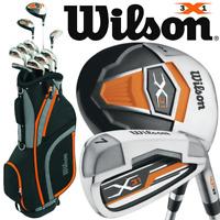 WILSON X31 MENS 2018 COMPLETE GOLF SET +DELUXE GOLF CART BAG