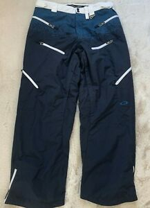 Oakley Road Fuel 3 Snowboard Ski Cargo Pants Blue White Men's L Large