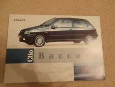 Renault Clio BAccara  brochure. Mint