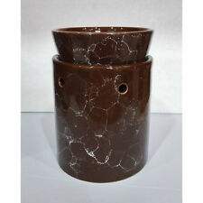 Tall Brown Marbled Ceramic Electric Scented Oil Tart Candle Burner/Warmer Light