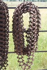 Vintage Link Farm Rusty Chain Steampunk Chicken House Feeder Chain Primitive