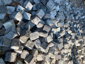 1m2 Granite Cobbles setts W130mm x L200mm x D150mm 90 year old