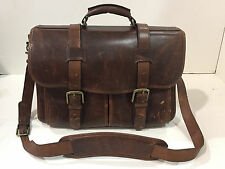 KORCHMAR Garfield F1005 Leather Laptop Messenger Briefcase $465