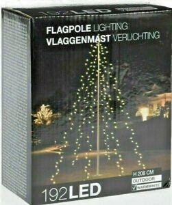LED Lichterkette Fahnenmast Weihnachtsbaum 192 warmweiß Fahnenstange Tanne Deko