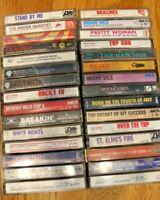 Vintage Lot 28 Popular Movie Soundtracks Cassettes Cassette Tapes 80's Music EUC