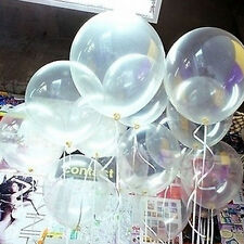 "Wholesale 10/20/100 Pcs Transparent Latex Balloons 10"" Wedding Party Decorations"